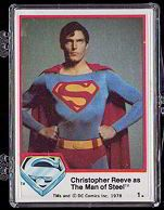 complete set of superman 1 trading cards very collectable contains 77 cards with original superman christopher reeves