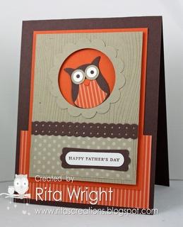 Rita's Creations: FMS38: Peek-a-boo Owl: Cards Owl, Peek A Boo Owl, Card Idea, Owl Punch, Owl Card, Card Making, Punch Cards, Su Owl