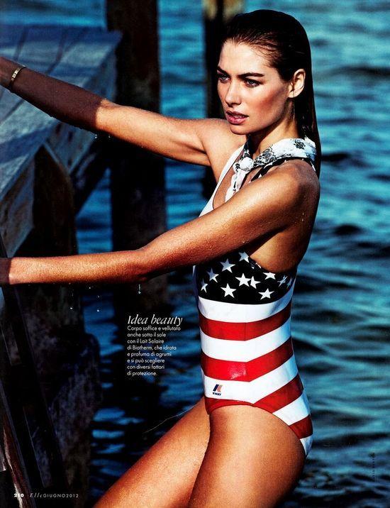 Jess Hart by David Burton for Elle Italia