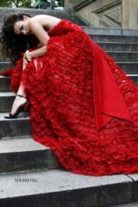 Red dress. Oooooo girl!!