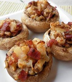 Receta de champiñones rellenos de jamón ¡Solo 92 calorías!