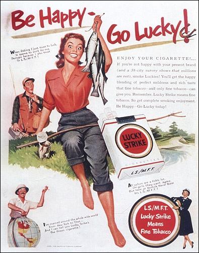 Raymond Loewy - Lucky Strike Ad, Ladies Home Journal