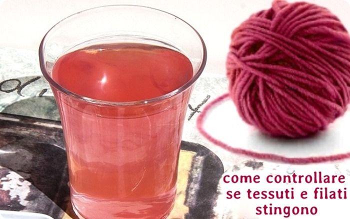 Scuola di cucito, maglia, uncinetto e ricamo: come controllare prima se filati e tessuti stingono