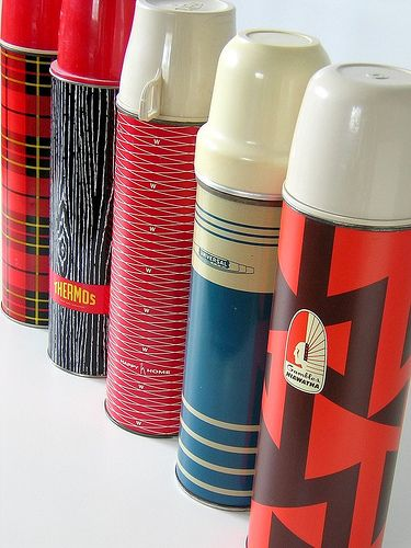 Vintage Thermos collection...another collection I've been banned from on Erin's orders! ha ha