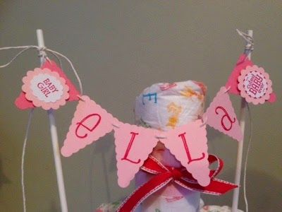 *LaLaLa ymcg crafting*: Nappy cake and Scrapbook page