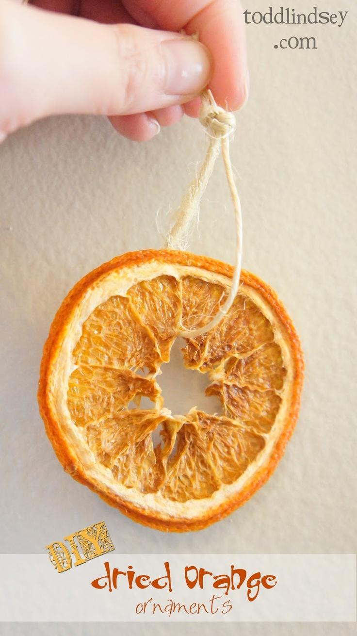 DIY Dried Orange Ornaments