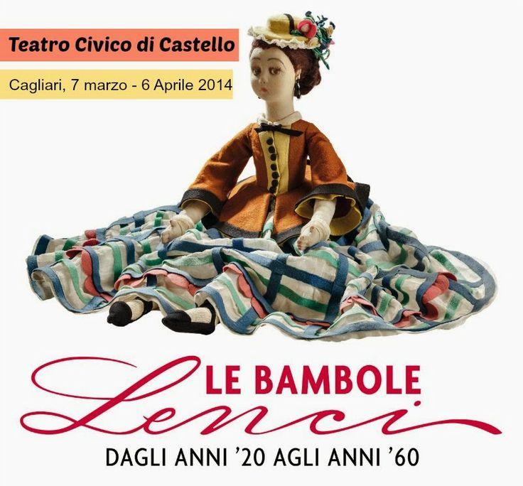 """Al Teatro Civico di Castello a Cagliari dal 7 marzo finbo al 6 aprile in mostra """"Le bambole Lenci, dagli anni '20 agli anni '60"""", selezione di bambole di una collezione privata.  #MostreCagliari"""