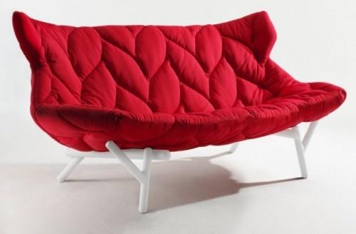 Natural Leaf Sofa by Patricia Urquiola: Great for nesting or cuddling. #Chiar #Sofa #Patricia_UrquiolaColleges Life, Patricia Urquiola, Interiors Architecture, Comfy Couch, Foliage Sofas, Furniture, Modern Interiors, Design, Patriciaurquiola