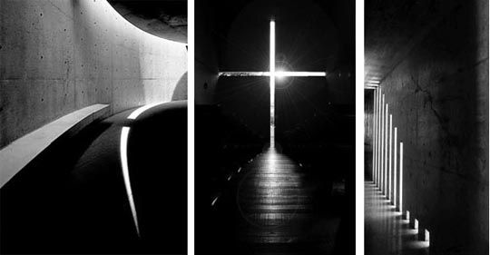 Tadao ando church of light natural light architecture calgary skylights pinterest tadao - Skylight house plans natural light ...