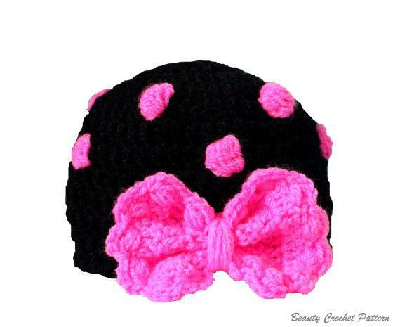 Crochet Pattern Polka Dot Hat Newborn by BeautyCrochetPattern, $5.00------IM IN LOVE WITH THIS LITTLE HAT.