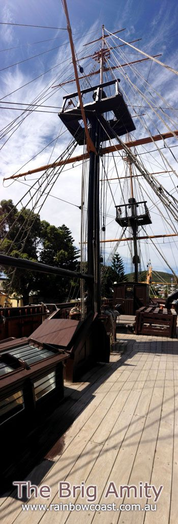 The Brig Amity is an exact replica of original vessel which brought the first white settlers to Albany.  Open to the public, for a small entrance fee you can roam above decks and explore below deck to see how the crew members lived during their journey to Western Australia