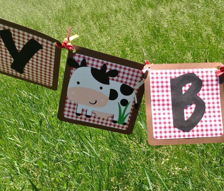 Barnyard Happy Birthday Farm style