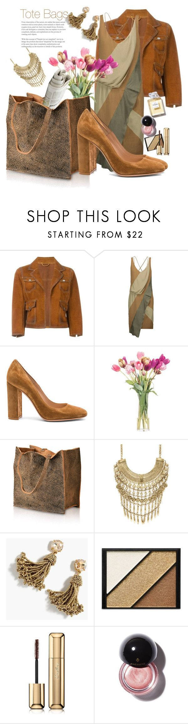 """""""Tote Bags"""" by marionmeyer ❤ liked on Polyvore featuring Dsquared2, Belstaff, Gianvito Rossi, NDI, Marabelle, J.Crew, Elizabeth Arden, Guerlain and totebags"""