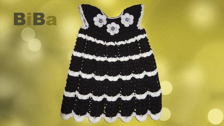 Virkattu mekko, musta - BiBa
