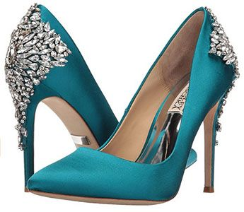 Teal wedding shoes www.finditforweddings.com evening shoes, bridesmaid shoes, prom shoes