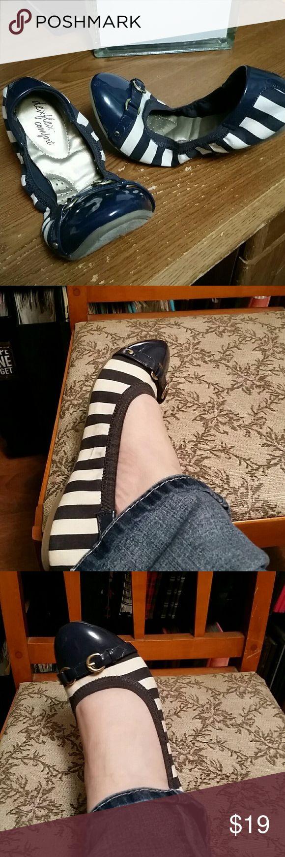 Navy Blue and White flats Navy Blue and White flats dexflex comfort Shoes Flats & Loafers