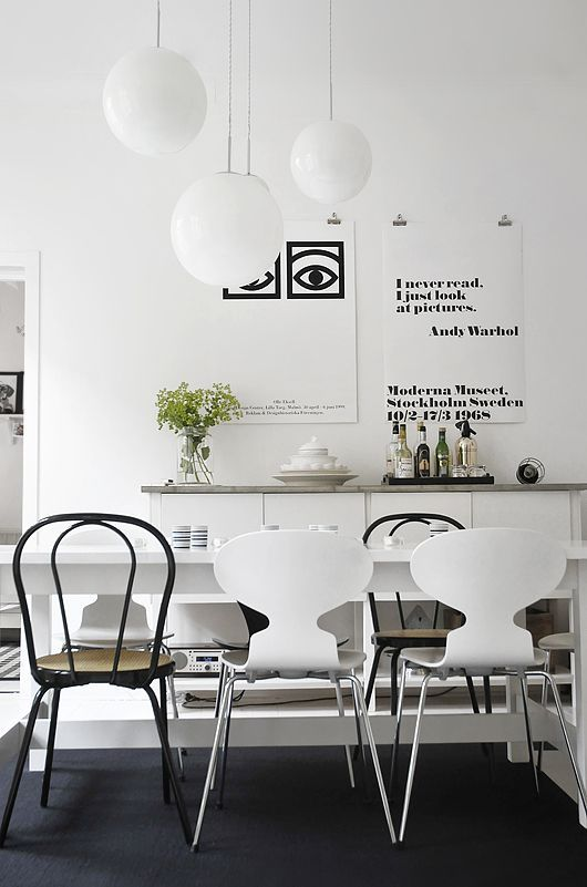 40 Awesome Scandinavian Dining Room Designs : 40 Awesome Scandinavian Dining Room With White Wall And Wooden Tbale Chair Chandelier Rug And ...