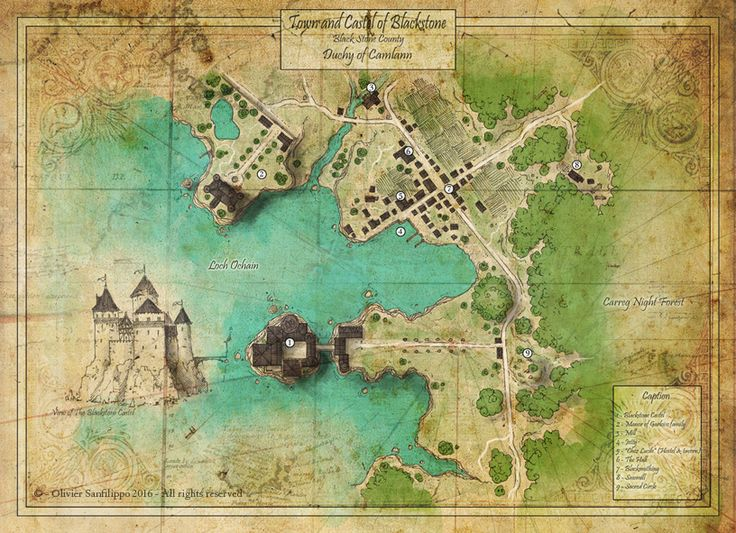 Map of Blackstone by Olivier Sanflippo