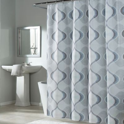 Mstyle Graphic Edge Shower Curtain