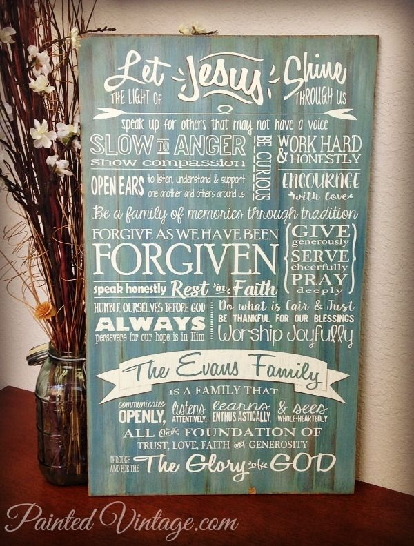 Family Mission Statement - Painted Vintage
