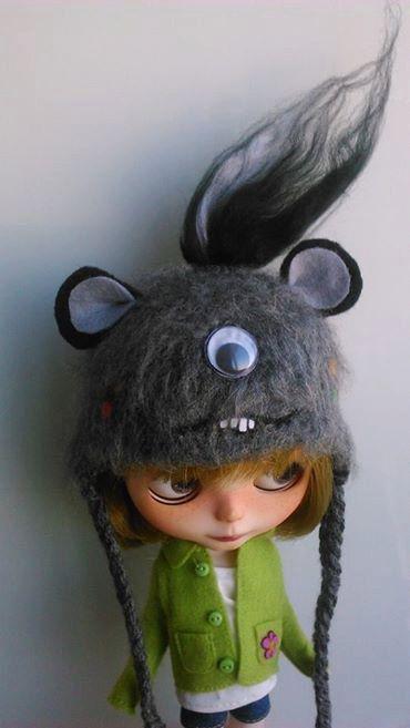 Fluffy monster hat