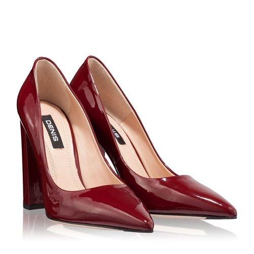 Pantofi dama eleganti culoare bordo
