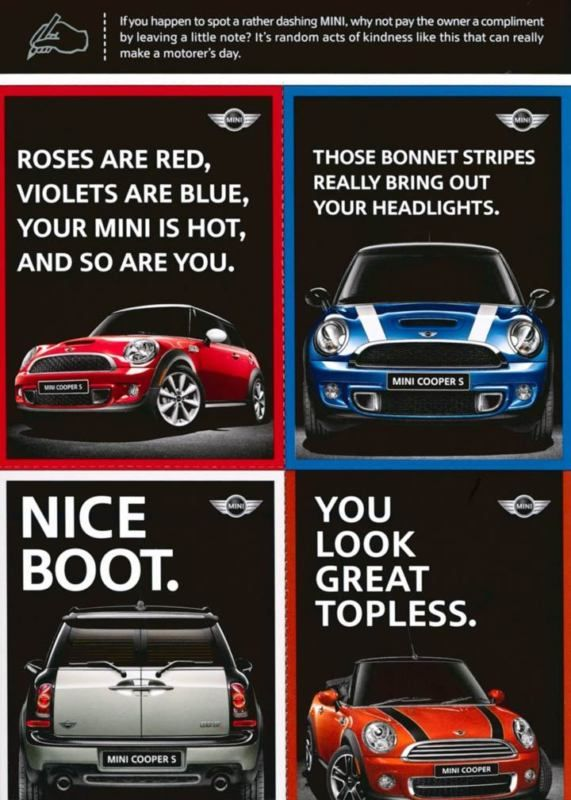 2010 Mini Cooper S ORIGINAL Factory Postcard my1982