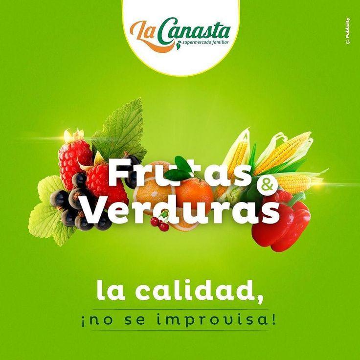 #SupermercadoFamiliar  La calidad no se improvisa y eso lo tenemos claro en #LaCanasta por eso seleccionamos los mejores productos para que lleves siempre lo #MásFresco Acércate a nuestras sección de #Frutas y #Verduras y lleva productos de calidad!  #CulturaCanasta #VivefresoVivelaCanasta