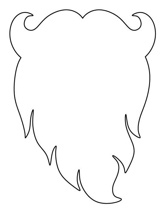 Beard outline - photo#43