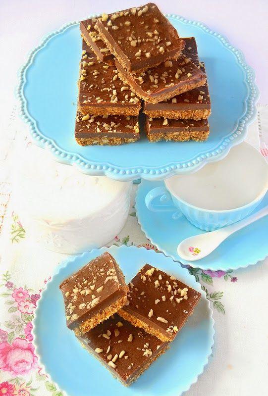 Quadrotti al burro di arachidi e cioccolato