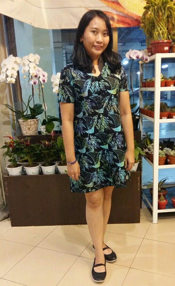 Dress Batik Cap (handstamp) motif  Pari.