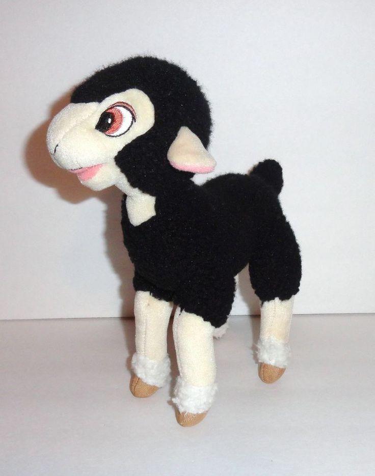 Charlottes Web 2 Cardigan Plush Black Lamb Sheep Wooly Fur 2003 Charlottesweb Kids Toys