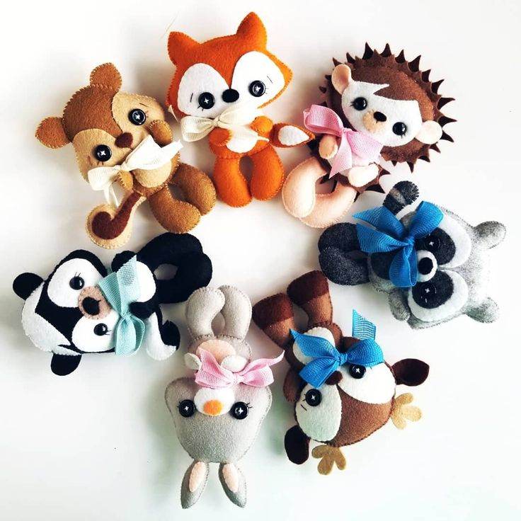 Woodland Animals set of Four PDF sewing pattern-Deer-Fox-Raccoon-Squirrel-Woodland Animal ornaments-Nursery decor-Baby's mobile toy-Animals