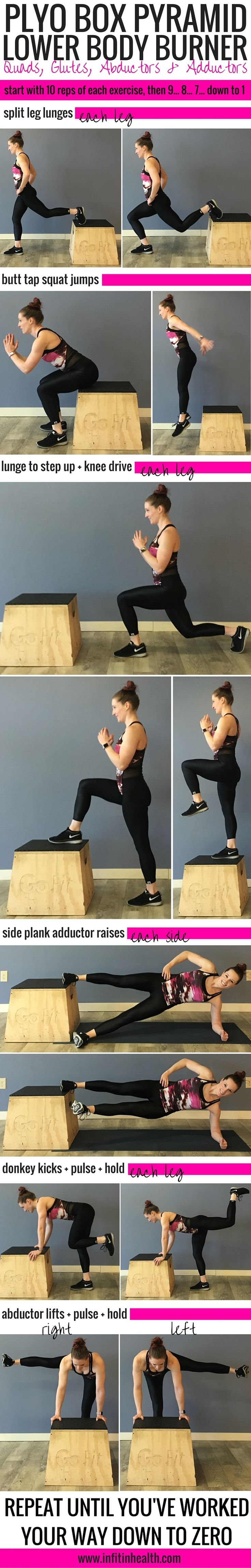 Plyo Box Pyramid Lower Body Burner | In Fitness and In Health
