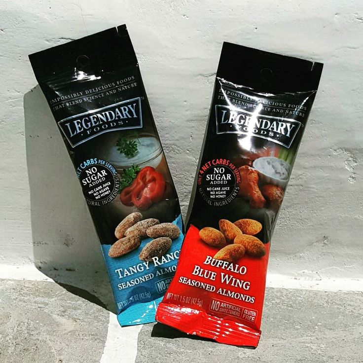 With two great flavors sometimes it's hard to choose which one to eat first  #eatlegendary #belegendary #almonds #ranch #buffalowing #snacks #sugarfree #nosugar #paleo #healthylife #healthychoices #foodie #fitness #fitlife #ifbb #ifbbpro #gym #workout #yoga #pilates #balance #almondbutter #natural #new #treenuts #nuts #nutbutter #instagram #instagood #instalike by legendaryfoods