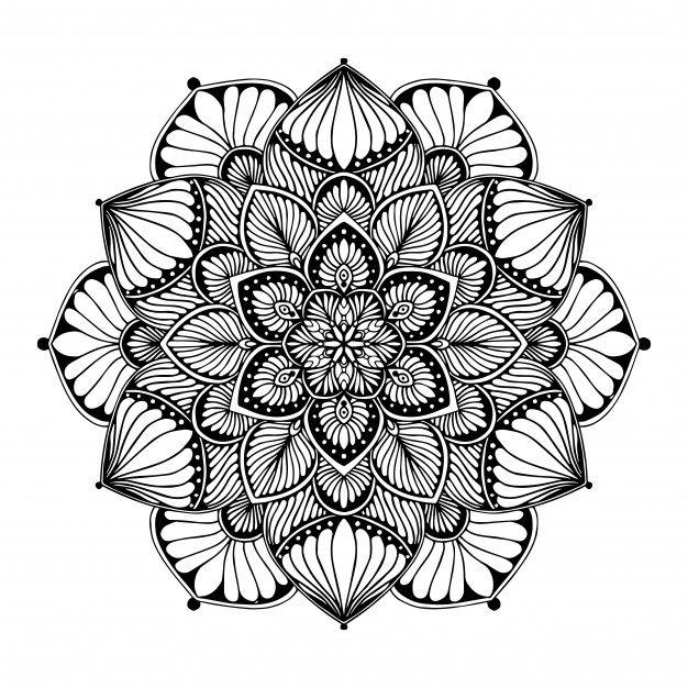 Dibujos Para Colorear Mandalas Vector P Premium Vector Freepik Vector Fondo Logo Patron Flor Patrones Tribales Dibujo Indio Mandalas