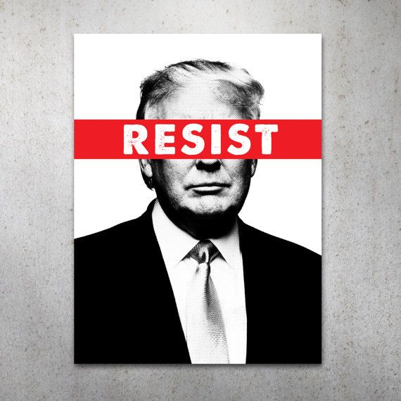 Anti Trump Political Printable Protest Sign Poster