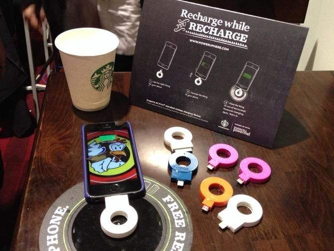 Starbucks to hook up wireless charging stations in shops