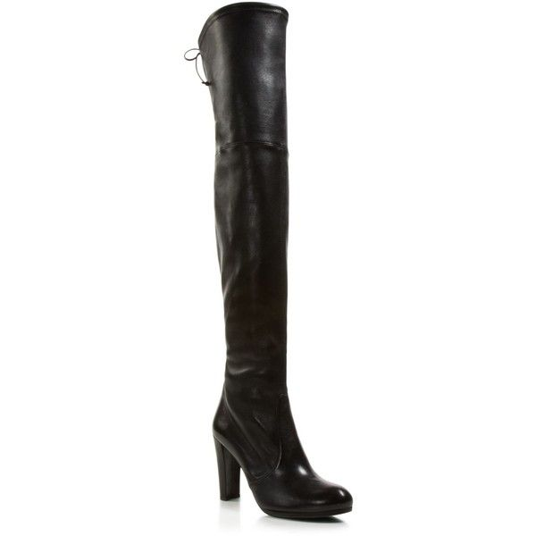 Stuart Weitzman Highland Over the Knee High Heel Boots ($459) ❤ liked on Polyvore featuring shoes, boots, nero, over-the-knee boots, thigh high heel boots, stuart weitzman, over the knee thigh high boots, over the knee high heel boots and stuart weitzman boots