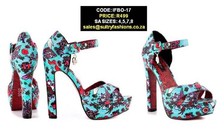 IFBO-17 Kokomoan Platforms - Turquoise PRICE: R529.00  SIZES: 4,5,7,8 sales@sultryfashions.co.za