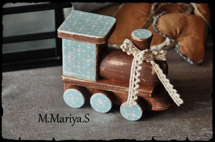 """Купить Деревянные ретро игрушки """"Родом из детства"""" - игрушки, ретро, винтаж, горошек, деревянные игрушки"""