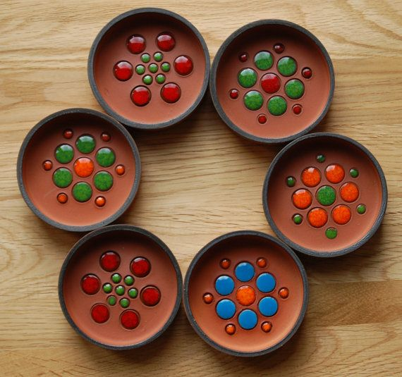 A set of 6 Hornsea Pottery 1970s terracotta pin by VintageGirlUK, $30.00