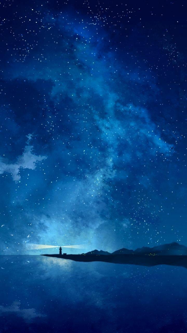 Wallpaper 4k Phone Anime Ideas Night Sky Wallpaper Anime Scenery Scenery Anime wallpaper mobile 4k