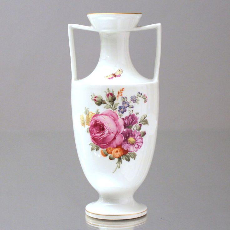 kpm berlin vase mit blumen malerei kriegsmarke amphorenvase jugendstil wk1 rose amphora vase. Black Bedroom Furniture Sets. Home Design Ideas