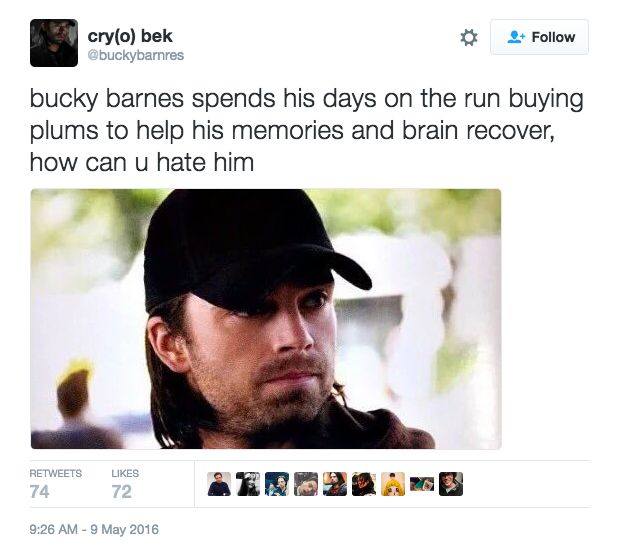 "OMG Bucky: | 26 ""Captain America: Civil War"" Tweets Guaranteed To Make You Laugh"