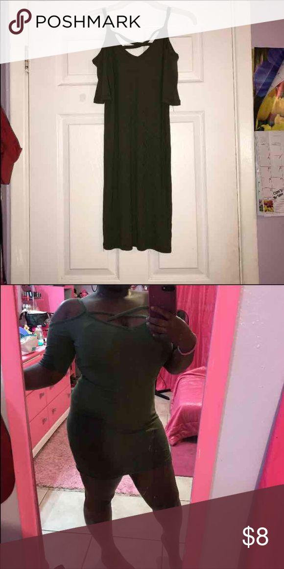 Hunter Green Dress Tee shirt dress Papaya Dresses Mini