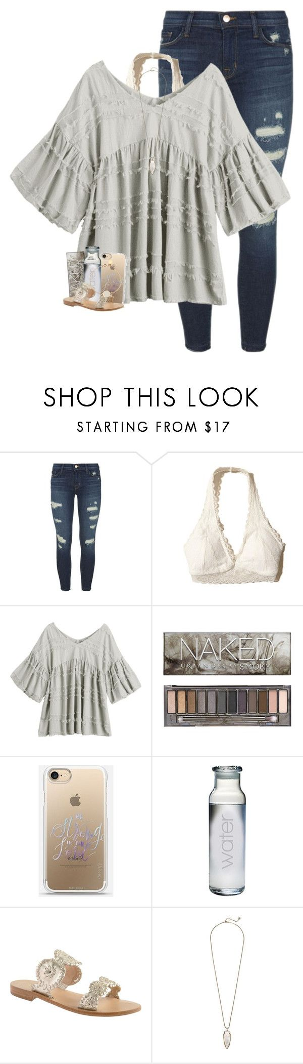 """""""so crazy how you say you wanna stay"""" by oliviajordyn ❤ liked on Polyvore featuring J Brand, Hollister Co., Urban Decay, Susquehanna Glass, Jack Rogers, Kendra Scott and Marc by Marc Jacobs"""