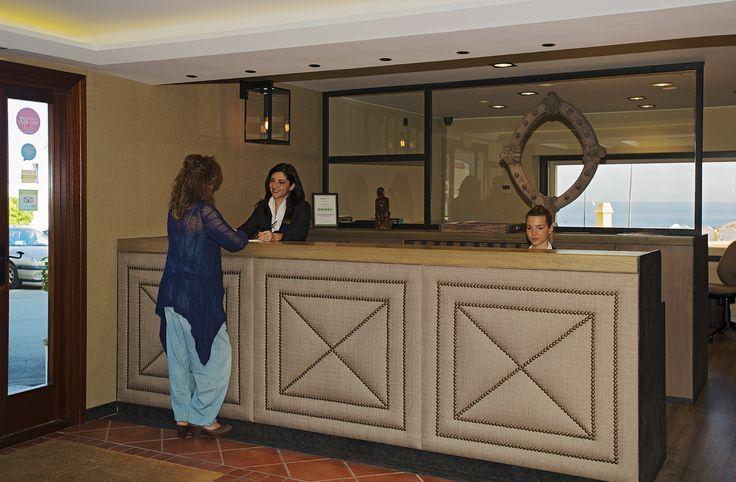 The hotel reception. Hotel Aigua Blava. Begur, Cala Fornells, Costa Brava, Luxury Hotels
