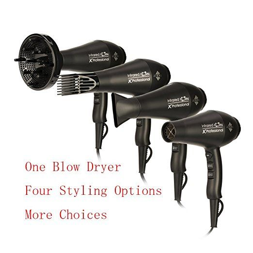 JINRI Professional Negative Ionic Hair Dyer,1875W Infrared Heat Ionic Hair Blow,Salon AC Motor Low Noise Blow Dryer with Diffuser Concentrator - http://amzn.to/2tvSUdx