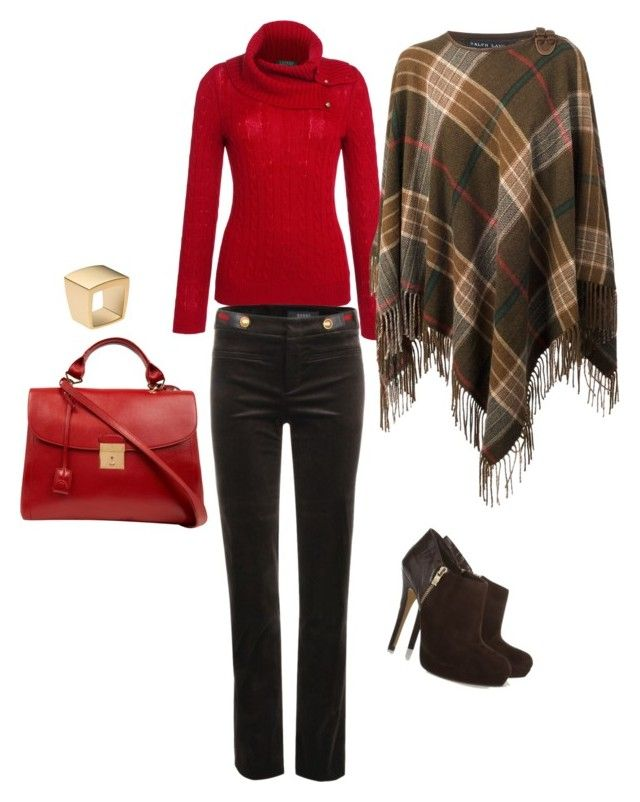 Red by mylittlestar on Polyvore featuring polyvore fashion style Lauren Ralph Lauren Ralph Lauren Blue Label Gucci MICHAEL Michael Kors Marc Jacobs Michael Kors clothing